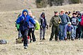 """Expedition Yellowstone group playing """"Run and Scream,"""" a Blackeet game (2) (33887699808).jpg"""
