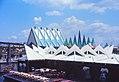 Expo 67, pavillons de l'Acier, et de l'Industrie de la pâte et du papier; un restaurant..jpg