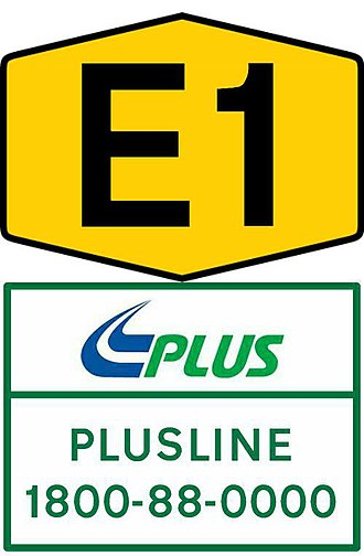Road signs in Malaysia - Image: Expressway hotline number