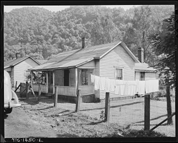 Exterior of home of Luther Walker, his wife an...