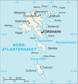 kart færøyene Færøyene – Wikipedia kart færøyene