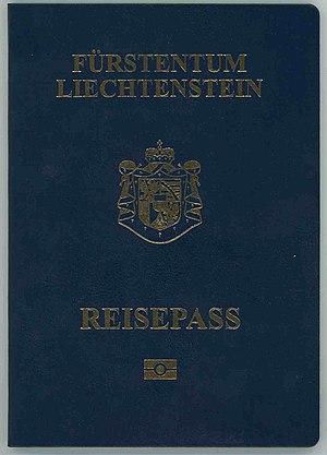 Liechtenstein passport - The front cover of a contemporary Liechtenstein biometric passport