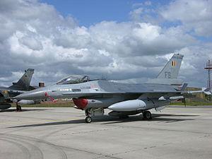 350th Squadron (Belgium) - F-16AM of 350th Squadron at Florennes, 2009.