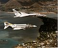 F-4J RA-5C of CVW-9 over Hawaii 1971.jpg