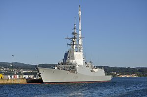 Spanish Armed Forces - Frigate Cristóbal Colón (F-105) of the Spanish Navy.