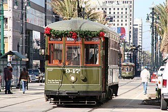 Streetcars in New Orleans - Streetcars on the Canal Street line.