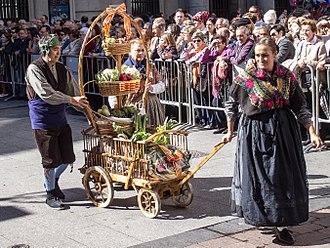Fiestas del Pilar - Offering of Fruits.