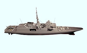 FREMM multipurpose frigate - French version of the FREMM