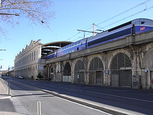 Gare de Nîmes - Façade of the Nîmes railway station