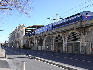 railway station in Nîmes, France