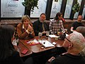 Fair Vote WRC members chat with Ontario MPP Candidates at the 2014 WRC Spring Pub Night (14065215278).jpg