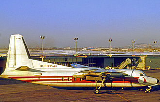 Quebecair - Quebecair Fairchild F-27 turboprop airliner at Montreal Dorval in 1971