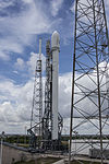 Falcon 9 preparing to launch ASIASAT 6 (16855040322).jpg