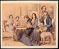 Familjen Dardel i Saint-Blaise, Schweiz. Akvarell av Fritz von Dardel, juli 1843 - Nordiska museet - NMA.0037723.jpg