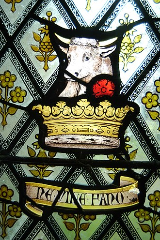Fulbeck - The Fane (Neville inspired) crest in Fulbeck's church.
