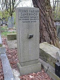 Feliks Fabjan Zamenhof grób.JPG