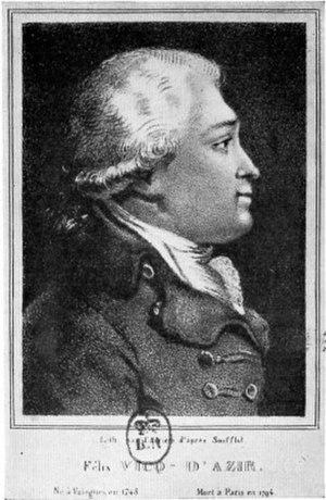 Félix Vicq-d'Azyr - Image: Felix vicq dazyr
