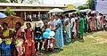 Female voters standing in a queue to cast their votes, at a polling booth, during the 2nd phase of Assam Assembly Election, at Pamoi village, in Kamrup district on April 11, 2016.jpg