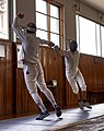 Fencing. Épée. Greek fencers. Stamatis and Aris Koutsouflakis.jpg