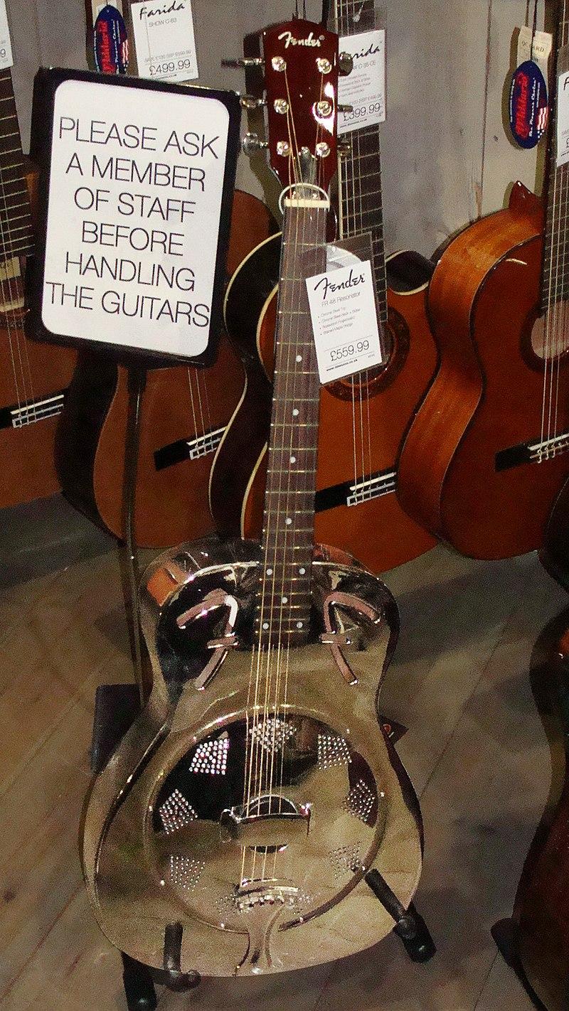Fender FR48 Resonator @ Dawsons Music shop, Liverpool, England.jpg