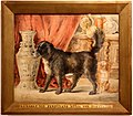 Ferdinando II del portogallo, cani con vaso orientale, acquarello, 1852.jpg