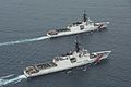 First 2 National Security cutters, the Bertholf and Waesche, cruise together.jpg