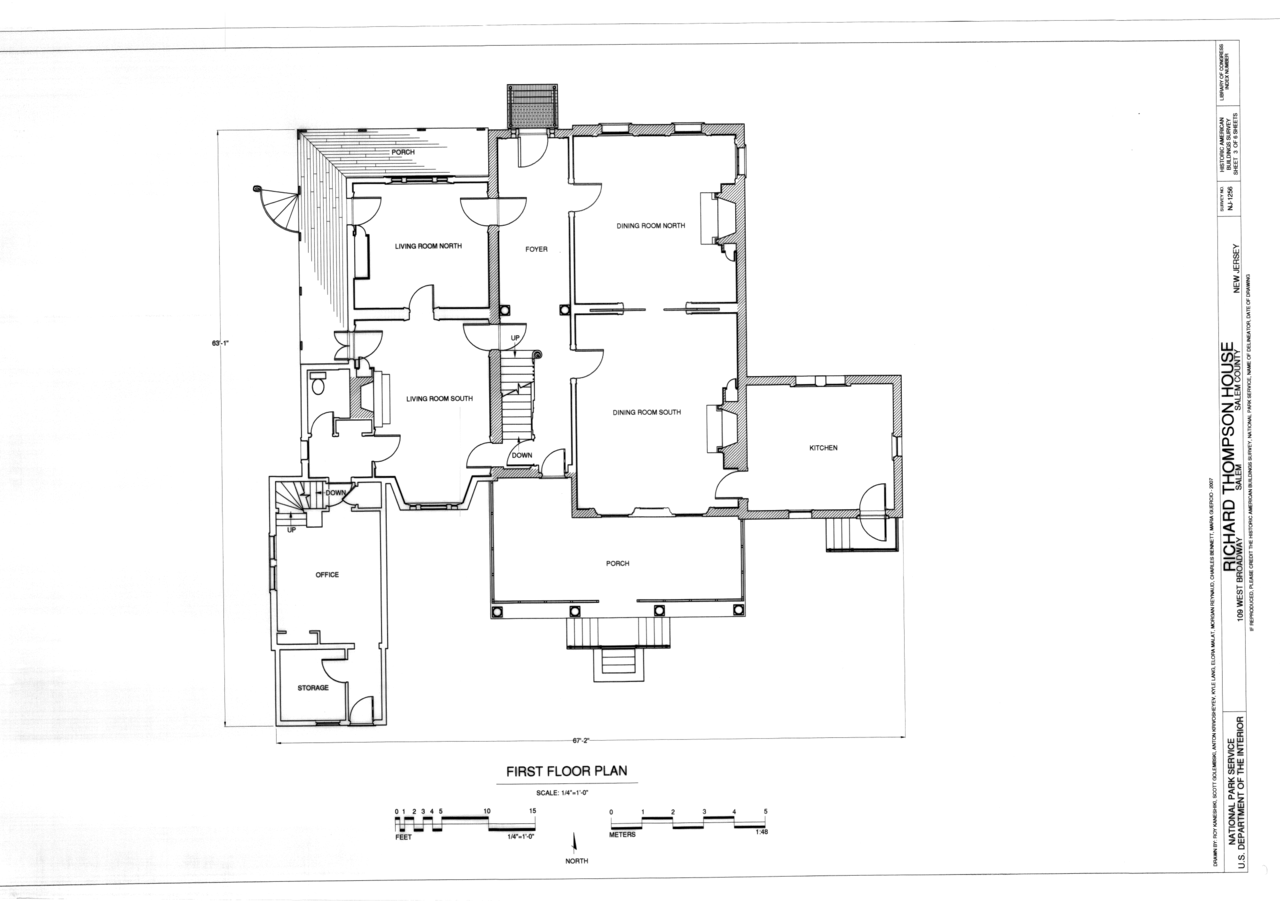 File First Floor Plan Richard Thompson House 109 West