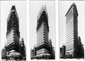 Flatiron Building - Construction phases