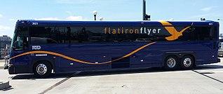 Flatiron Flyer Express bus system in Colorado, USA