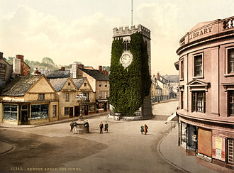 Newton Abbot - Photochrom of St Leonard's Tower, 1895