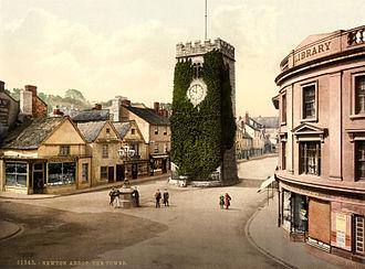 Newton Abbot - Photochrom of St Leonard's Tower, 1895