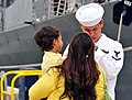Flickr - Official U.S. Navy Imagery - A Sailor says goodbye to his family before boarding USNS Mercy..jpg