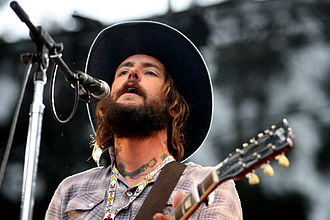 Ben Bridwell - Bridwell playing with Band of Horses in August, 2009