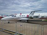 Flight Options (VH-VSQ) Cessna 510 Citation Mustang on display at the 2015 Australian International Airshow.jpg