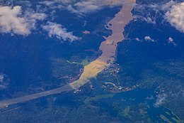 Flight from Miami to Quito, Ecuador - the Panama canal through the clouds (16472733329).jpg