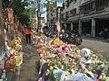 Floral Tributes for Victim on Sidewalk of Lane 9, Section 1, Huanshan Road, Neihu District, Taipei 20160330c.JPG