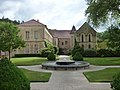 Fontenay Abbey - The Seguin Gallery and The Jail House - fountain (35793240376).jpg