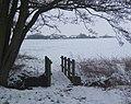 Footbridge and view to Grove Farm - geograph.org.uk - 1144678.jpg
