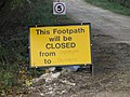 Footpath closed - geograph.org.uk - 1546795.jpg
