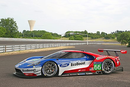 Ford GT GTE-Pro, which competed in the FIA World Endurance Championship from 2016 until the end of the 2018-19 season and the WeatherTech SportsCar Championship from the 2016 season until the end of the 2019 season. Ford GT (2nd Gen.) LM GTE Pro 003.jpg
