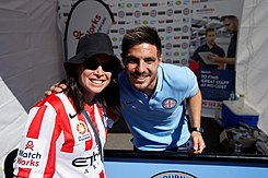 Fornaroli with a fan at Melbourne City's Family Day in 2015.jpg
