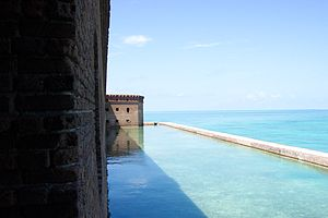Fort Jefferson (Florida) - Fort Jefferson Moat – Dry Tortugas