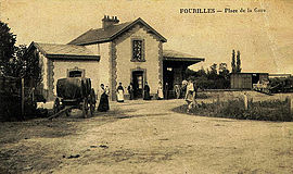 The railway station in Fourilles, in the early 20th century
