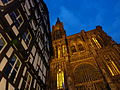 Fr Strasbourg Cathedral and nearby house by night.jpg
