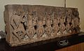 Fragment Showing Seven Mother Goddess between Virabhadra and Ganesha - Circa 12th Century CE - Gopal Khera - ACCN 15-552 - Government Museum - Mathura 2013-02-23 5206.JPG