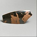 Fragment of a terracotta kylix (drinking cup) MET DP21781.jpg