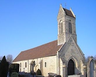 Authie, Calvados - Image: France Normandie Authie Eglise