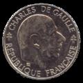 France - P - 1 - Franc - 1988 - Charles de Gaule 5ième République - B.png