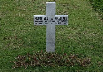 Francisco Arcellana - Arcellana is buried at the Libingan ng mga Bayani.