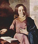 La Anunciación (detalle), 1638 (211 x 175 cm.), Museo de Bellas Artes Grenoble